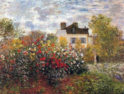 Le Jardin de Monet à Argenteuil (Les Dahlias)