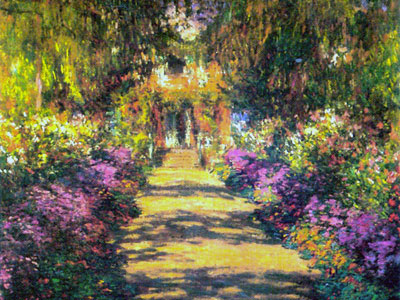 Claude monet ses oeuvres for Jardines monet